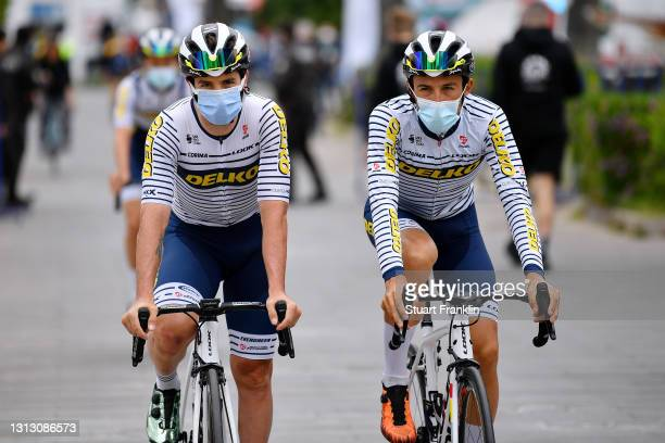 Start / Mathias Le Turnier of France & JoseŽ Manuel D'az Gallego of Spain and Team DELKO during the 56th Presidential Cycling Tour Of Turkey 2021,...
