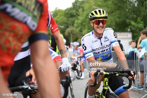 Start / Matteo Trentin of Italy and Team Mitchelton-Scott European Champion Jersey / during the 23rd Euroeyes Cyclassics 2018 a 217,6km race from...