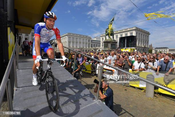 Start / Matthieu Ladagnous of France and Team Groupama-FDJ / Place Royal / Brussels City / during the 106th Tour de France 2019, Stage 1 a 194,5km...