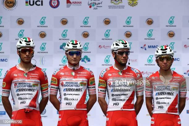 Start / Mattia Viel of Italy and Team Androni Giocattoli - Sidermec / Luca Chirico of Italy and Team Androni Giocattoli - Sidermec / Luca Pacioni of...