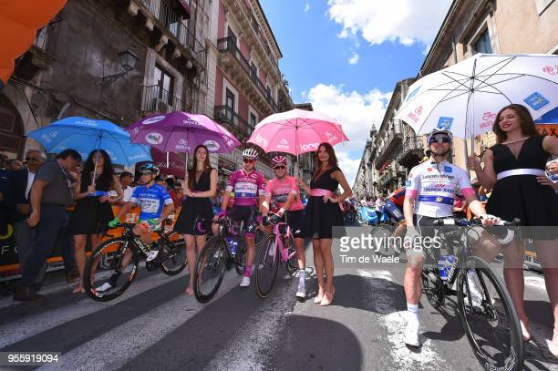 Start / Maximilian Schachmann of Germany and Team Quick-Step Floors White Best Young Rider Jersey / Rohan Dennis of Australia and BMC Racing Team...