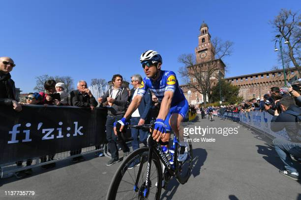 Start / Maximiliano Ariel Richeze of Argentina and Team Deceuninck Quick Step / Piazza Castello Milano City / Castello Sforzesco / Castle / Fans /...