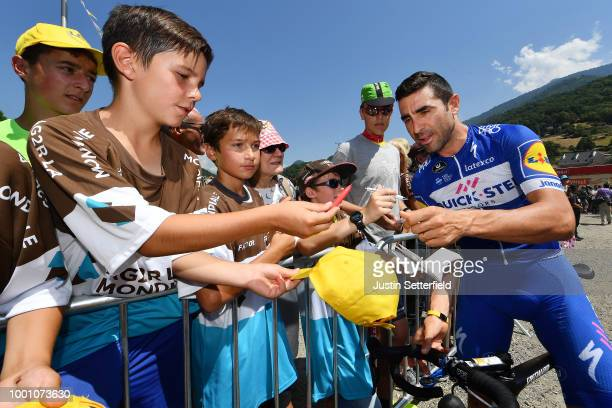 Julian Alaphilippe of France and Team QuickStep Floors Polka Dot Mountain Jersey / Serge Pauwels of Belgium and Team Dimension Data / Tejay Van...