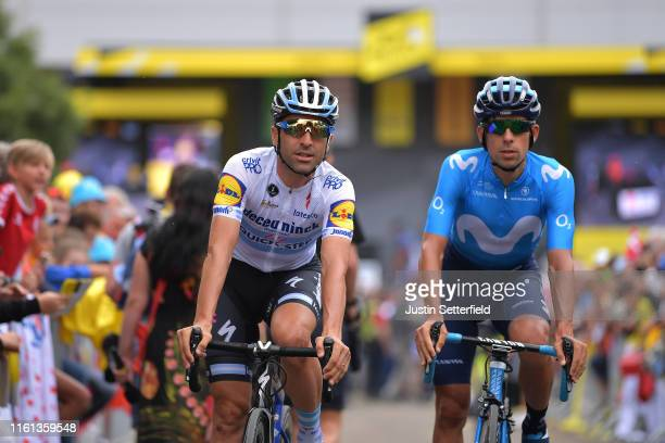Start / Maximiliano Richeze of Argentina and Team Deceuninck - Quick-Step / Nelson Oliveira of Portugal and Movistar Team / Mulhouse City / Fans /...