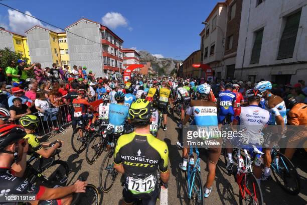 Start / Michael Albasini of Switzerland and Team Mitchelton-Scott / Ben Gastauer of Luxembourg and Team AG2R La Mondiale / Peloton / Landscape / Fans...