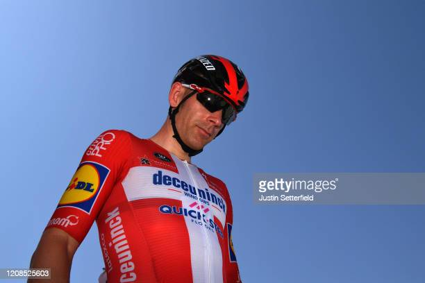 Start / Michael Morkov of Denmark and Team Deceuninck - Quick - Step / during the 6th UAE Tour 2020, Stage 3 a 184km stage from Al Qudra Cycle Track...