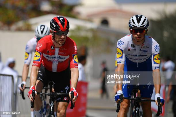Start / Michael Morkov of Denmark and Team Deceuninck - Quick - Step / James Knox of The United Kingdom and Team Deceuninck - Quick - Step / during...