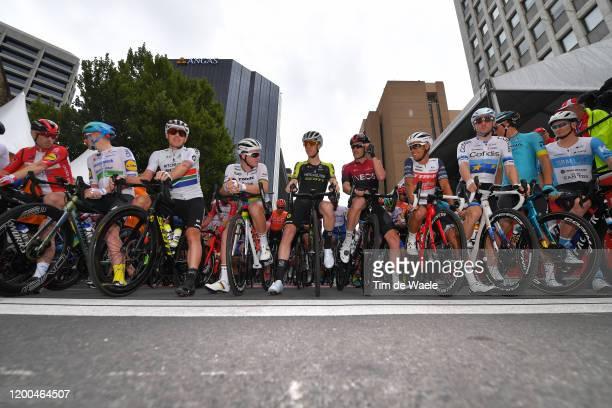 Start / Michael Morkov of Denmark and Team Deceuninck QuickStep / Sam Bennett of Ireland and Team Deceuninck QuickStep / Daryl Impey of South Africa...