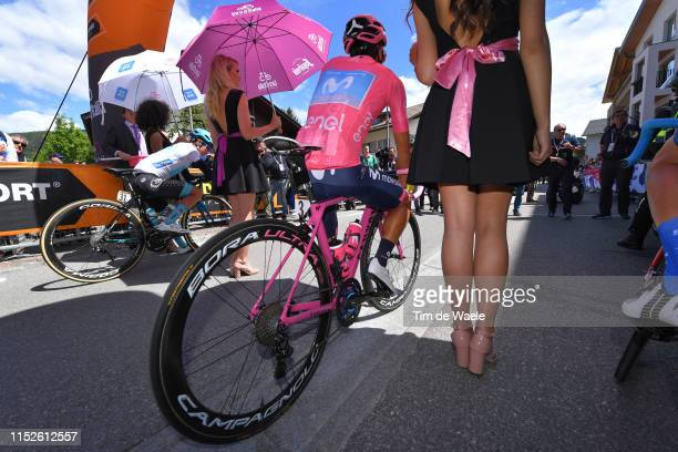 Start / Miguel Ángel López Moreno of Colombia and Astana Pro Team White Best Young Rider Jersey / Richard Carapaz of Ecuador and Movistar Team Pink...