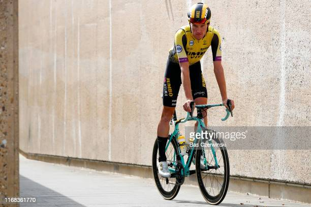 Start / Mike Teunissen of The Netherlands and Team Jumbo-Visma / during the 15th Binck Bank Tour 2019, Stage 5 a 191,4km stage from Riemst to Venray...