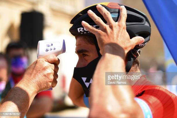 Start / Mikel Landa Meana of Spain and Team Bahrain McLaren / Covid Safe measures / Temperature control / during the 42nd Vuelta a Burgos 2020, Stage...