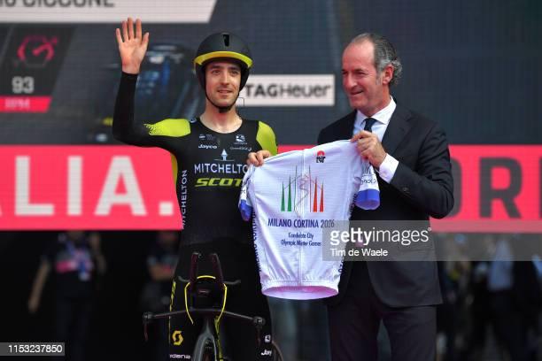 Start / Mikel Nieve of Spain and Team Mitchelton - Scott / Luca Zaia of Italy Veneto Region President / Milano Cortina 2026 Candidate City Olympic...