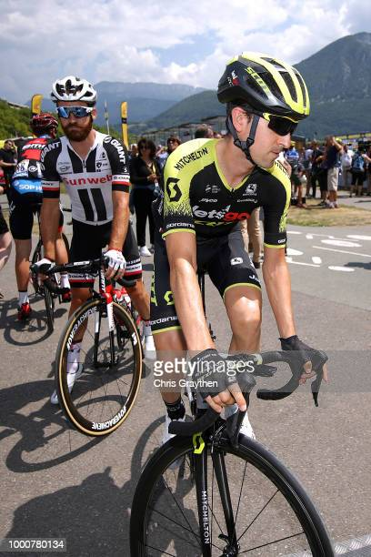 Start / Mikel Nieve of Spain and Team MitcheltonScott / Simon Geschke of Germany and Team Sunweb / during the 105th Tour de France 2018 / Stage 10 a...