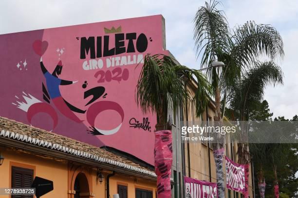 Start / Mileto City / Detail view / during the 103rd Giro d'Italia 2020, Stage 5 a 225km stage from Mileto to Camigliatello Silano 1275m /...