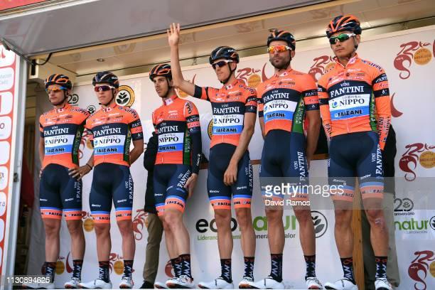 Start / Moreno Moser of Italy and Team Nippo Fantini Faizane / Joan Bou Company of Spain and Team Nippo Fantini Faizane / Marco Canola of Italy and...