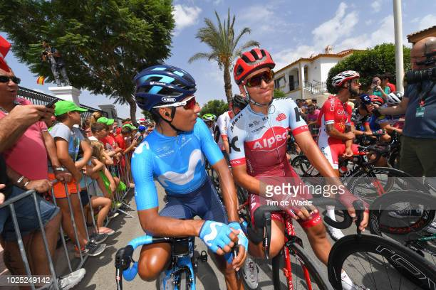Start / Nairo Quintana of Colombia and Movistar Team / Jhonatan Restrepo of Colombia and Team Katusha Alpecin / during the 73rd Tour of Spain 2018,...