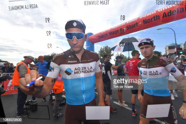 Start / Nans Peters of France and Team AG2R La Mondiale / Signing / during the 21st Santos Tour Down Under 2019 Stage 1 a 129km stage from Adelaide...