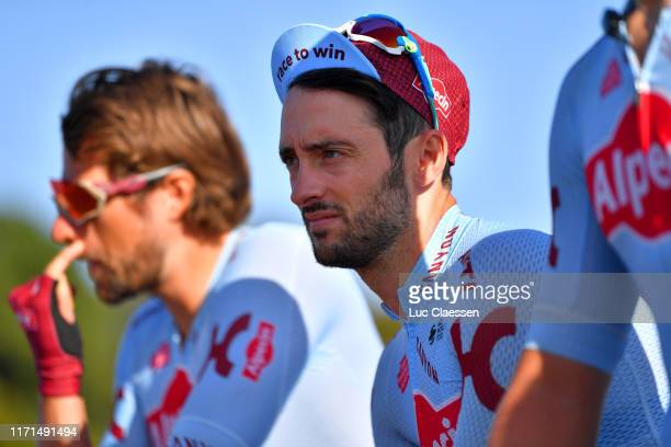 Start / Nathan Haas of Australia and Team Katusha Alpecin / during the 83rd Bretagne Classic Ouest-France 2019 a 248,1km stage from Plouay to Plouay...