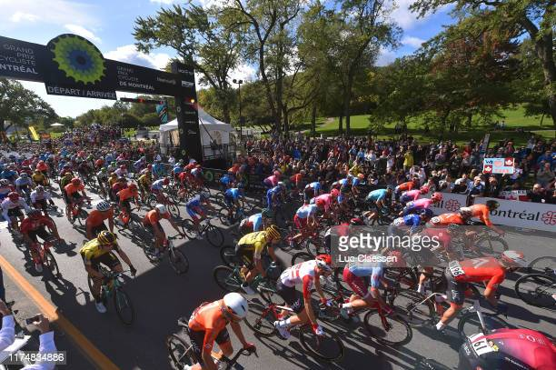 Start / Nathan Haas of Australia and Team Katusha Alpecin / Kristoffer Halvorsen of Norway and Team INEOS / Alexander Dominic Howes of The United...