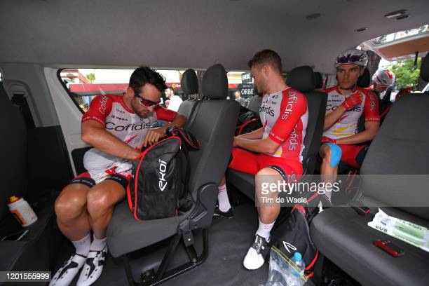Start / Nathan Haas of Australia Team Cofidis Solutions Credits / Marco Mathis of Germany Team Cofidis Solutions Credits / Mathias Le Turnier of...