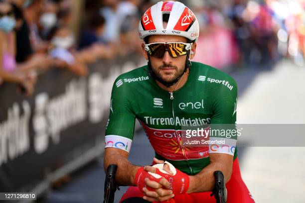 Start / Nathan Haas of Austria and Team Cofidis Green Mountain Jersey / during the 55th Tirreno-Adriatico 2020, Stage 2 a 201km stage from Camaiore...