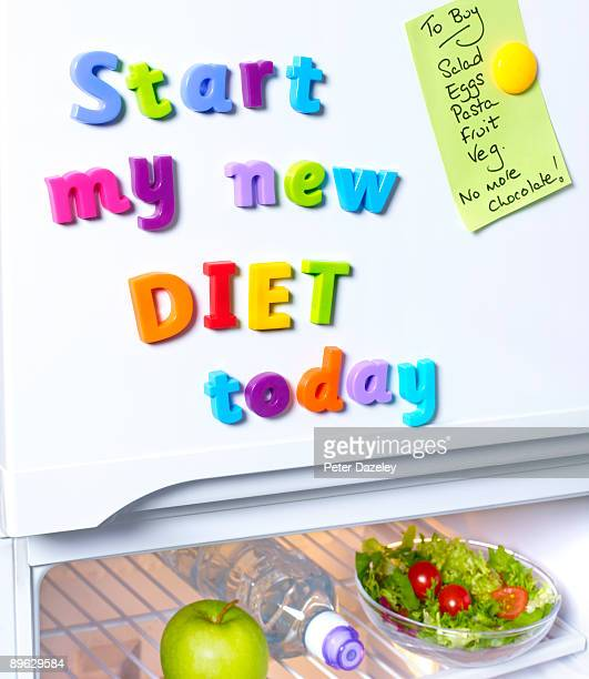 Start new diet today fridge magnets.