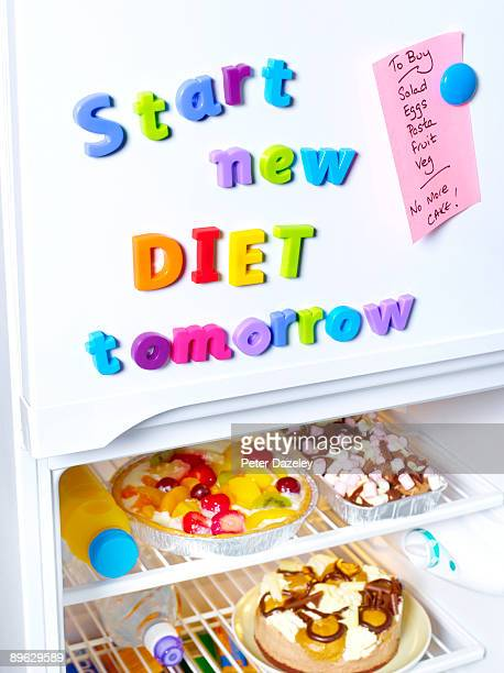 Start new diet tomorrow fridge magnets.
