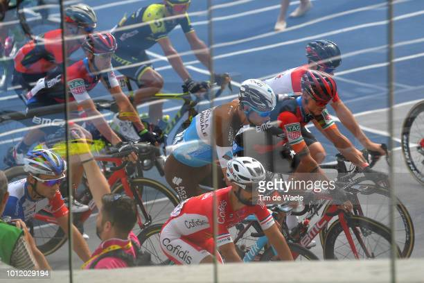Start / Nicholas Roche of Ireland and Bmc Racing Team / Mikael Cherel of France and Team Ag2R La Mondiale / Nacer Bouhanni of France and Team...
