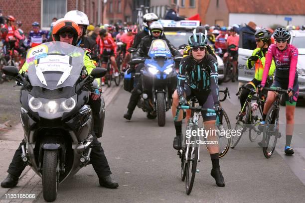 Start / Nicole Hanselmann of Switzerland and Team Bigla / during the 13th Omloop Het Nieuwsblad 2019 Women a 1229km race from Gent to Ninove /...