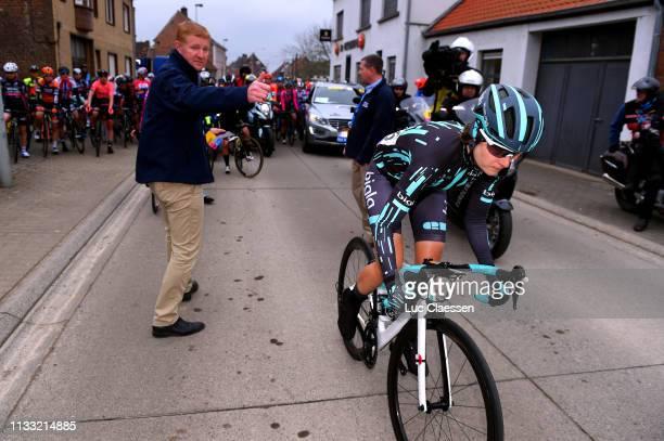 Start / Nicole Hanselmann of Switzerland and Team Bigla / during the 13th Omloop Het Nieuwsblad 2019, Women a 122,9km race from Gent to Ninove /...