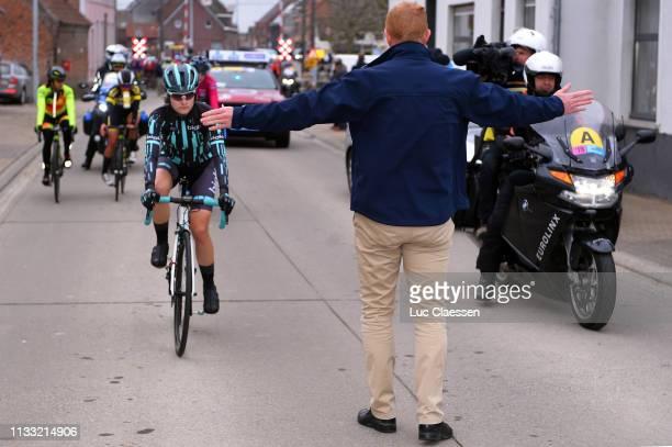 Start / Nicole Hanselmann of Switzerland and Team Bigla / Peloton / during the 13th Omloop Het Nieuwsblad 2019 Women a 1229km race from Gent to...