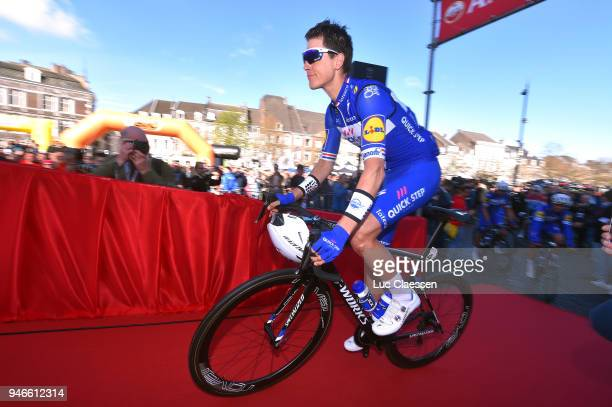 Start / Niki Terpstra of The Netherlands and Team QuickStep Floors / during the 53rd Amstel Gold Race 2018 a 263km race from Maastricht to Berg en...