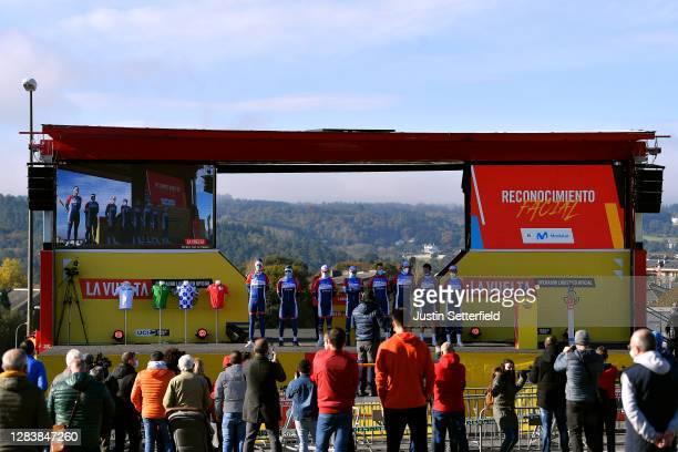 Start / Niki Terpstra of The Netherlands, Lorrenzo Manzin of France, Valentin Ferron of France, Jonathan Hivert of France, Pim Ligthart of The...