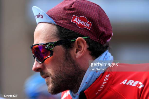 Start / Oakley Glasses / Nathan Haas of Australia and Team Katusha Alpecin / during the 74th Nokere Koerse - Danilith Classic 2019 a 195,6km race...