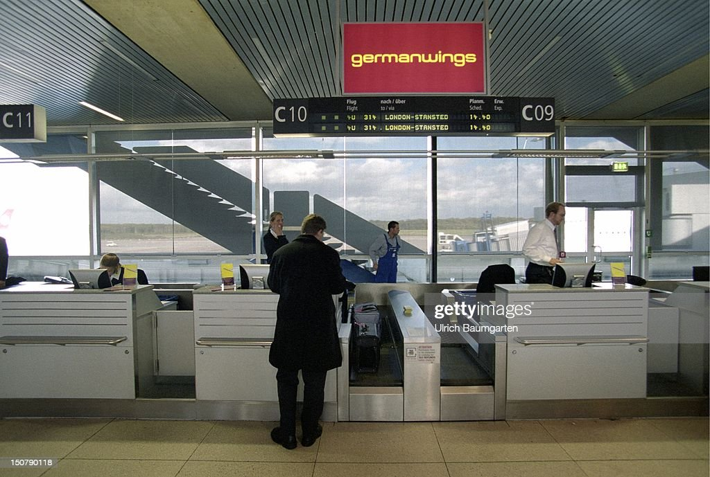 Check In Of Germanwings Passengers In The Airport Cologne Bonn