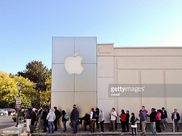 comece de iphone 5 venda - loja da apple - fotografias e filmes do acervo