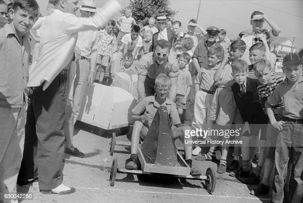 Start of Soapbox Auto Race During July 4th Celebration Salisbury Maryland USA by Jack Delano for Farm Security Administration July 1940