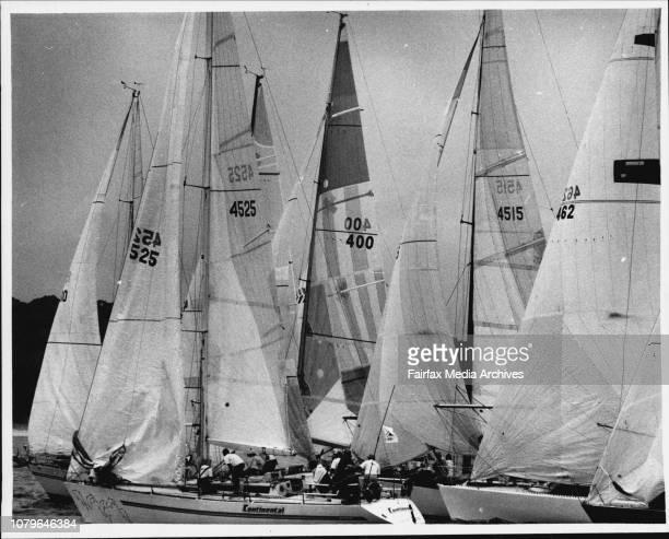 Start of Sydney - Mooloolaba yacht race. March 13, 1980. .