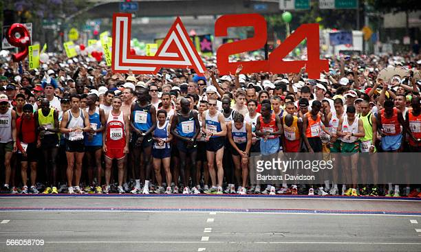 Start of the 24th annual Los Angeles Marathon Race May 25 09