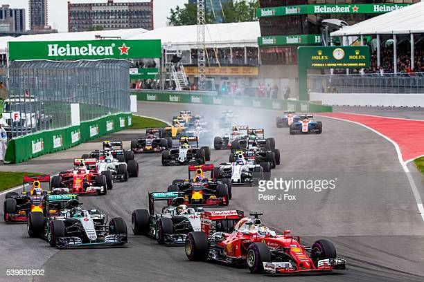 Start of the Canadian Formula One Grand Prix at Circuit Gilles Villeneuve on June 12 2016 in Montreal Canada