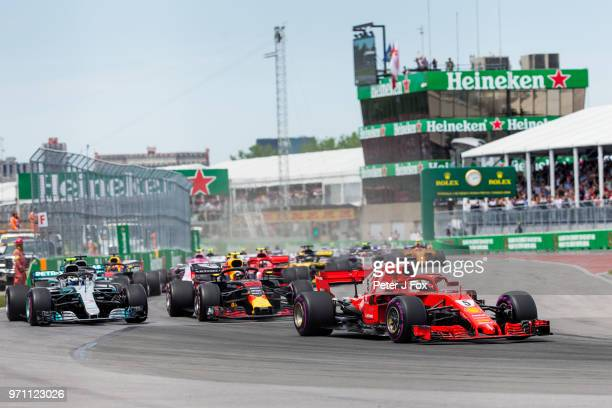 Start of the Canadian Formula One Grand Prix at Circuit Gilles Villeneuve on June 10, 2018 in Montreal, Canada.