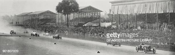 Start of the European Grand Prix in Monza Italy September 9 from L'Illustrazione Italiana Year L No 37 September 16 1923