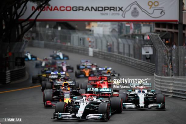 Start of the F1 Grand Prix of Monaco at Circuit de Monaco on May 26, 2019 in Monte-Carlo, Monaco.