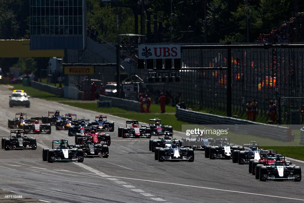 Start of the Formula One Grand Prix of Italy at Autodromo di Monza on September 6, 2015 in Monza, Italy.