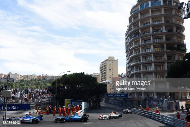 Start of the race in Saint Devote during the Grand Prix of Monaco on May 13 2017 in Monaco Monaco