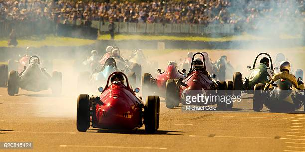 Start of the Richmond Trophy race for Grand Prix cars at Goodwood on September 11 2016 in Chichester England