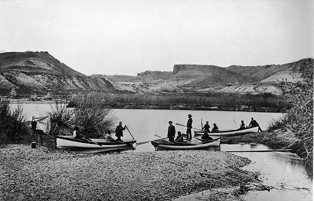 Start of the second Colorado Expedition led by American...