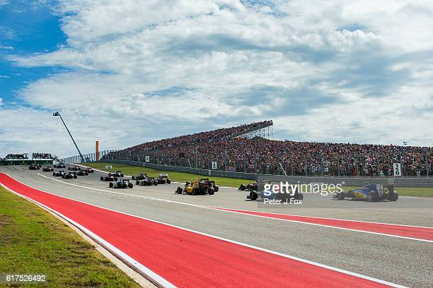 Start of the United States Formula One Grand Prix at Circuit of The Americas on October 23 2016 in Austin United States