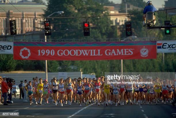 Start of Women's Marathon at Goodwill Games
