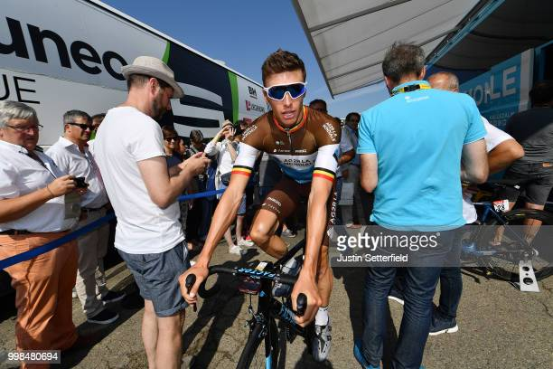 Start / Oliver Naesen of Belgium and Team AG2R La Mondiale / during the 105th Tour de France 2018 Stage 8 a 181km stage from Dreux to Amiens...